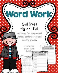 Center Ideas for suffixes -ly and -ful!