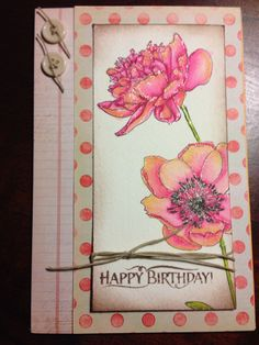 Tim Holtz Flowers - I used water-colour pencils