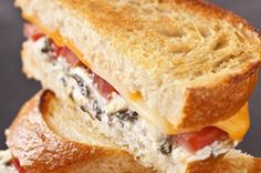 Artichoke and tomato grilled cheese sandwich - mmmm good!
