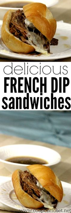 You have to make this crock pot french dip sandwiches. It is one of our favorite crock pot recipes!