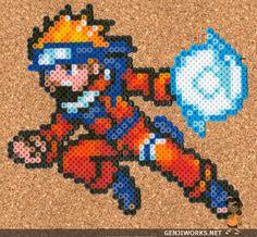Rasengan Naruto Perler by genjiworks.deviantart.com on @DeviantArt