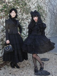 Pardon My Bloomers.   The outfit on the left w/the long skirt, I really like!!