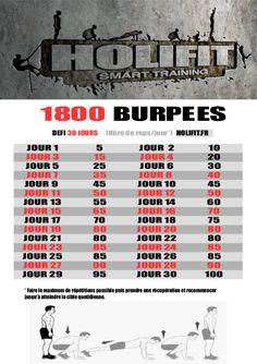 Le burpees est pour moi l'exercice de base au poids de corps. Si pour la plus part des gens en faire 100 en une séance peut paraître impossible, avec un peu d'entraînement je suis convaincu que la majorité d'entre vous pourrez y arriver ! Lancez vous dans ce défi de 30 jours qui vous fera...