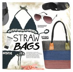"""""""Straw Bags"""" by pokadoll ❤ liked on Polyvore featuring Hedi Slimane, Ray-Ban, St. Tropez, polyvoreeditorial, polyvorefashion, polyvoreset and yoins"""