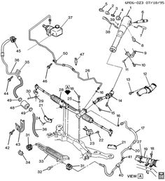 STEERING SYSTEM & RELATED PARTS 1994 Cadillac Seville