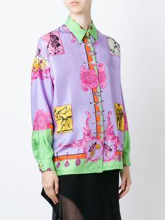 edadbe334b195 Versace Vintage baroque tennis print shirt Jeans Alta-costura Versace,  Gianni Versace, Tênis