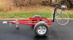 HF trailer or folded for a nice off-road frame. Bug Out Trailer, Trailer Axles, Kayak Trailer, Trailer Diy, Off Road Trailer, Small Trailer, Trailer Build, Airstream Campers, Camper Caravan