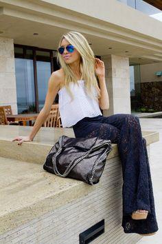 Lace Pantalones