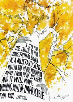 Faith As Small as A Mustard Seed--Or A Cancer Cell