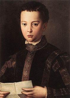 Francesco I de' Medici, 1551 (Agnolo Bronzino) (1503-1572)     Galleria degli Uffizi, Firenze