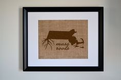 Mass Roots Wall Art. Custom Wall Art. Know your roots.. $35.00, via Etsy.