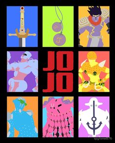 """JoJo's Bizarre Adventure - Weapons & Stands"" by spyrome876 | Redbubble"