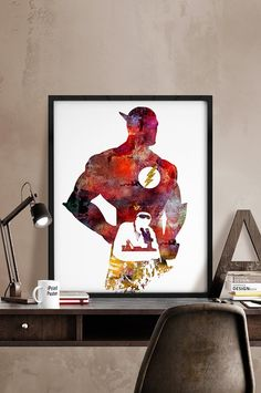 Flash Print Barry Allen poster Superhero art print by iPrintPoster