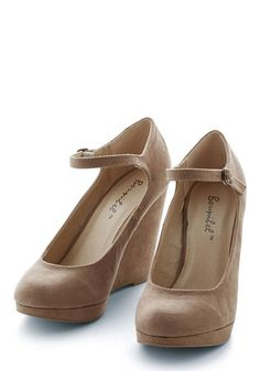 That's Classy-fied Heel in Taupe Secret. Whether youre cheerfully strolling to work or carrying out a covert operation, your sophisticated style inspires awe in these beige pumps. #gold #prom #modcloth