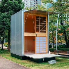 Two-story Prefab Tiny Cabin designed by German industrial designer Konstantin Grcic for Japanese brand Muji #tinyhouse #architecture #home #micro #nature #tinyhomes #architect #house #modern #green #tinyhousemovement #cool #future #tiny #design #minimalist #greentinyhouse by greentinyhouse