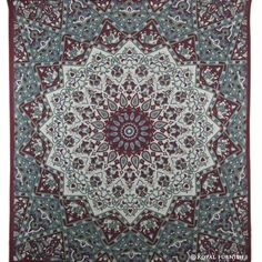 Maroon White Indian Mandala Star Dorm Decor Hippie Tapestry Wall Hanging Bedspread  on RoyalFurnish.com, $22.99