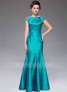 Trumpet/Mermaid Scoop Neck Floor-Length Taffeta Mother of the Bride Dress With Ruffle Beading (017041139).  $150 in purple
