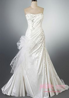 Satin Sweetheart A-line with Embroidery Siren Wedding Dress