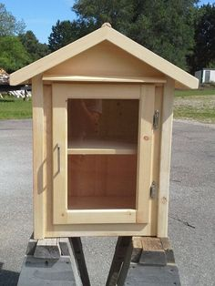 All wood Little Free Library or simple book exchange made to install on top of 4 X 4 post (not included in kit). Buyer will register with Little Free Library.com when ready to display if desired. With that registration the location is listed on Google Maps.  Could also be used as a Little Free Pantry.  It is bare wood so you can paint the desired color (or colors) of your choice. Made from Spruce, pine and pine plywood. Sanded and ready to paint or seal. Adjustable shelf and hardware to…