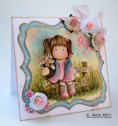 a touch of --this lady is super talented. Just LOOK at that background(done with Distress Inks).