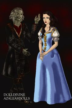 The Beauty and The Beast ~ by Daisycat ~ created using the LotR Hobbit doll maker | DollDivine.com