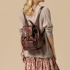 Womens Backpack Style PU Leather Purse Multi-function Hobo ...