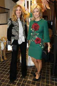 Amanda Brooks and Princess Marie Chantal of Greece
