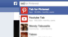 Search for Tab for Pinterest