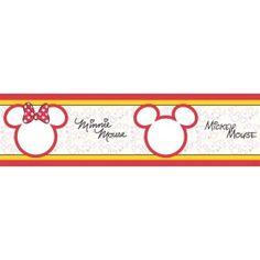 Minnie egér bordűr, sziluett, 5 méter, 14 cm