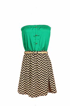 Chevron Dress $29.45 http://www.ruched-boutique.com/products-page/apparel/zig-zag-belted-tube-dress/