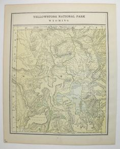 Montana Map Wyoming Yellowstone National Park Map Western - Western us map