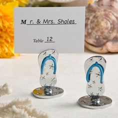 Flip Flop Themed place card and photo holders
