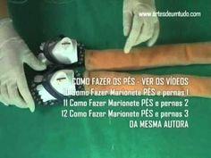 DIY Fantoche de Espuma #17 Como Fazer Pernas e Pés