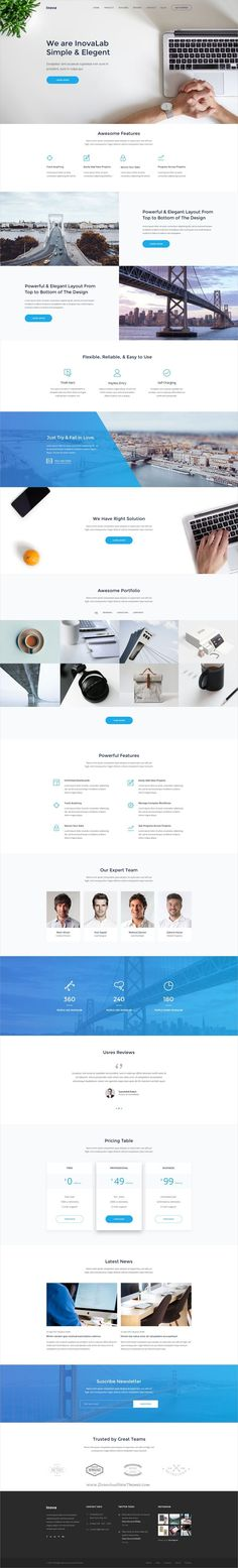 Inova is a creative #PSD #landingpage template for #startups Product, SaaS, App or marking websites with 22 organized PSD pages download now➩ https://themeforest.net/item/inova-product-saas-app-startup-marketing-landing-page/19486443?ref=Datasata