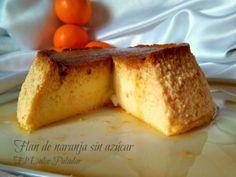 Comparte Recetas - Flan de naranja sin azúcar