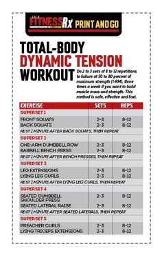 The Total Body Dynamic Tension Workout