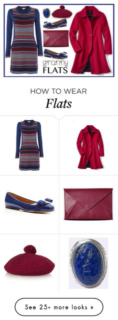 """Flats"" by pepitarita on Polyvore featuring Salvatore Ferragamo, Braintree, Gucci, Maison Margiela, Lands' End, Anello, women's clothing, women's fashion, women and female"