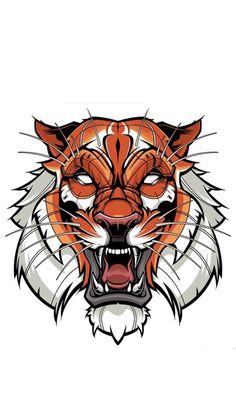 Tiger illustration color designed by Jared Mirabile. Connect with them on Dribbble; Tiger Illustration, Graphic Design Illustration, Beast Logo, Tiger Vector, Vector Art, Vector Design, Tattoo Design Drawings, Art Drawings, Tattoo Designs