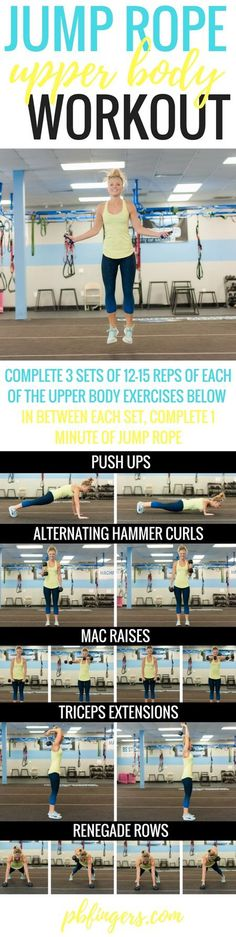Jump Rope Upper Body Workout | Posted By: CustomWeightLossProgram.com