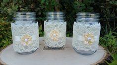 Burlap Mason Jar Rustic WeddingWedding by ClaudiasCuteCouture
