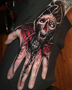 Dope Tattoos, Tattoos Arm Mann, Wicked Tattoos, Badass Tattoos, Body Art Tattoos, Skull Hand Tattoo, Skull Sleeve Tattoos, Skull Tattoo Design, Bleach Tattoo