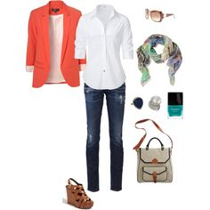 """causal saturday,"" created by aakroh.polyvore.com. I'm just wondering what's *causal* about the outfit...? :-P"
