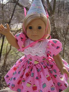 Happy Birthday Ensemble for 18 Inch Dolls Will Fit by gofancynancy, $29.99