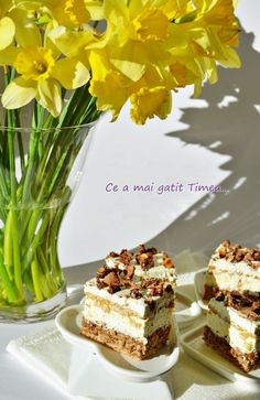 Prajitura Deliciu 5 Romanian Desserts, Something Sweet, Cheesecake, Cooking Recipes, Sweets, Food, Cakes, Traditional, Pies