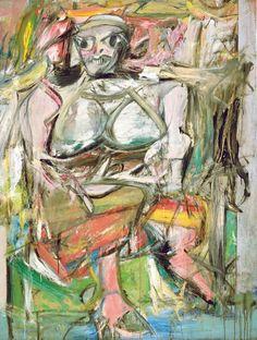 Willem de Kooning, Woman I, 1950-1952 / www.arthistorybabes.com