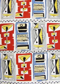 50's fabric design    interesting......I wanna live in the past now......