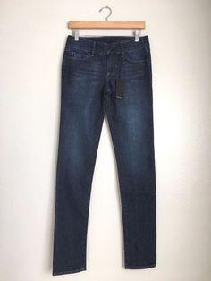 BLACK ORCHID Denim Jude Mid Rise Super Skinny Jeans Dark Blue 27 $190 #207 #BlackOrchid #SlimSkinny