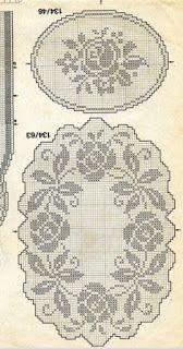 centro trittico | Hobby lavori femminili - ricamo - uncinetto - maglia