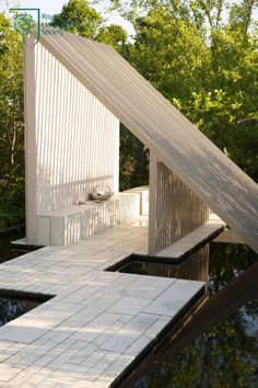 Macmillan Legacy Garden - ambitious architecture, but the monochrome feel and use of water and wood looks really nice.
