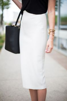 Zara Faux Leather Pencil Skirt Business Attire-5